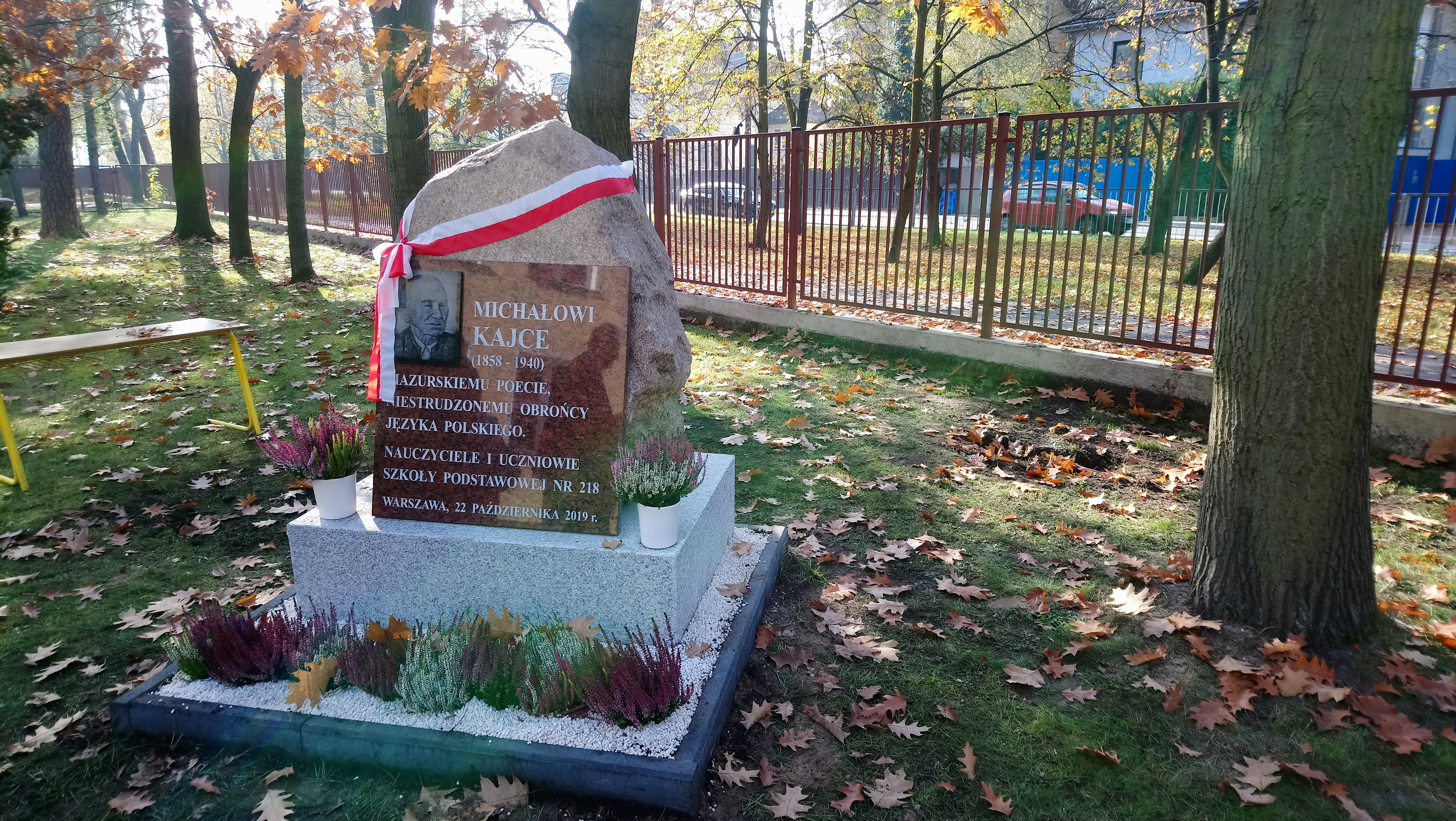 Odsłonięcie tablicy upamiętniającej Michała Kajkę